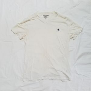 ABERCROMBIE & FITCH MENS WHITE T-SHIRT